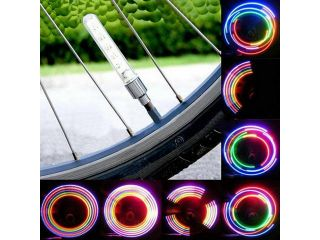 5 LED Cycling Bike Bicycle Motorcycle Car Tire Wheel Spoke Flash Light Set