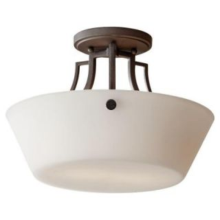 Feiss Weston 2 Light Colonial Iron Semi Flush Mount SF306CI
