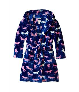 Hatley Kids Silhouette Horses Fuzzy Fleece Robe Toddler Little Kids Big Kids Purple,