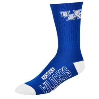 For Bare Feet College Big Logo Socks   Mens   Basketball   Accessories   Kentucky Wildcats   Royal/Multi