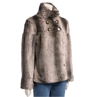 Lost Womens Ultra soft Faux Fur Swing Jacket  ™ Shopping