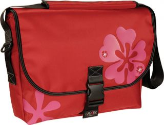 Womens Laurex 17.3 Laptop Large Slim Messenger Bag   Red Clover