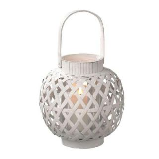 Filament Design Sundry 9.25 in. White Pillar Candle Holder 063088