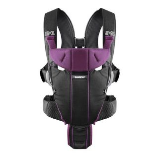 BABYBJORN Baby Carrier Miracle, Soft Cotton Mix, Black & Purple