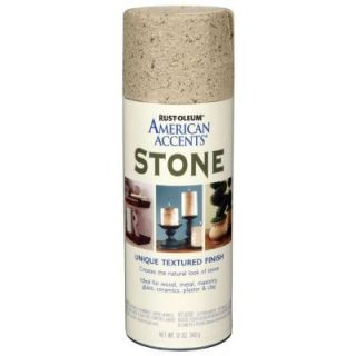 Rust Oleum American Accents 12 oz. Stone Bleached Stone Textured Finish Spray Paint 7990830