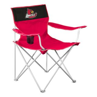 Logo Chairs NCAA University Of Louisville Cardinals Steel Folding Camping Chair