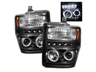 Spyder Auto Ford F250/350/450 Super Duty 08 10 Halo LED ( Replaceable LEDs ) Projector Headlights   Black PRO YD FS08 HL BK