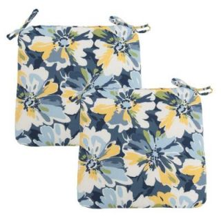 Hampton Bay Splash Floral Outdoor Chair Cushion (2 Pack) DISCONTINUED 7348 02002200