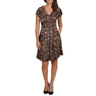 Rabbit Rabbit Rabbit Designs Womens Fit n Flare A line Abstract Print