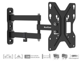 "Rosewill RHTB 11007 Black Ultra Slim Low Profile 37"" to 65"" LCD LED Flat Panel TV Wall Mount"