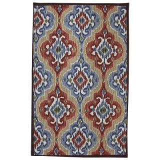 Mohawk Home Mystic Ikat 5 ft. x 8 ft. Outdoor Printed Patio Area Rug 379834