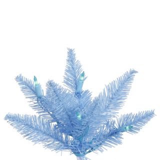 Vickerman 7.5 Sky Blue Slim Artificial Christmas Tree with 500 Mini