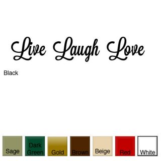 Live, Laugh, Love Vinyl Wall Art Decal   Shopping   The