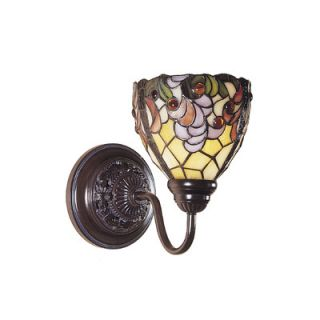 Dale Tiffany Floral 1 Light Leland Wall Sconce