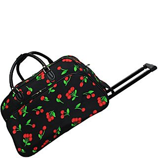 World Traveler Cherry 21 Rolling Duffel Bag