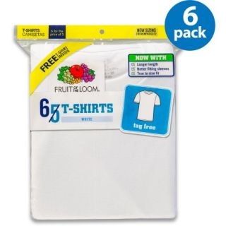 Fruit of the Loom Boys' White T Shirt Bonus Pack, 5+1 pack