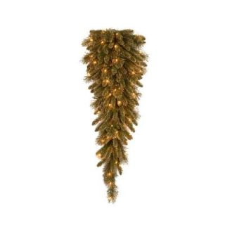 National Tree Company 42 in. Glittery Gold Pine Teardrop Swag with Glitter, Gold Cones, Gold Glittered Berries GPG3 341 42T