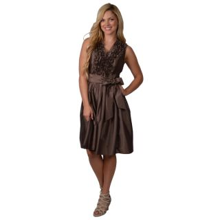 Jessica Howard Womens Metallic Ruffle Dress  ™ Shopping