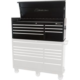 Montezuma Locking 7-Drawer Top Chest Cabinet — 55 1/2in.W x 19 3/4in.D x 21 1/8in.H, Model# BK5607CH  Tool Chests