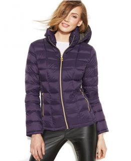 MICHAEL Michael Kors Hooded Down Packable Coat   Coats   Women