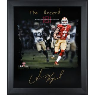 Colin Kaepernick San Francisco 49ers  Authentic Framed Autographed 20 x 24 In Focus Photograph with The Record Inscription