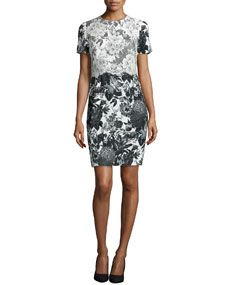 Stella McCartney Floral Print Lace Trimmed Dress