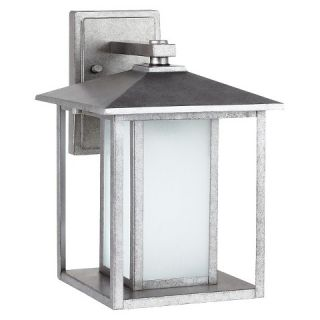 Sea Gull 1 Light Outdoor Wall Lantern   Weathered Pewter