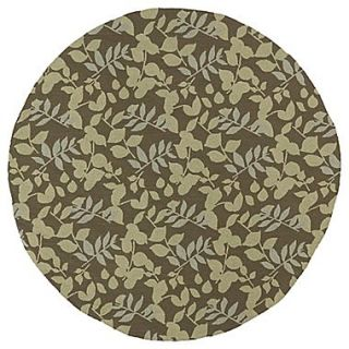 Kaleen Home & Porch Wymberly Coffee Indoor/Outdoor Area Rug; Round 79