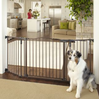 North States Deluxe Decor Wall Mount Matte Bronze Gate