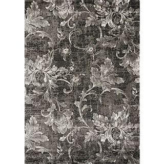 Kalora Platinum Grey/White Frozen Vines Area Rug; 710 x 106