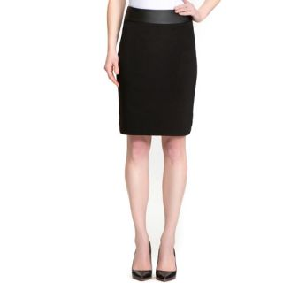 Miss Tina Women's Leather Waist Band Pencil Skirt