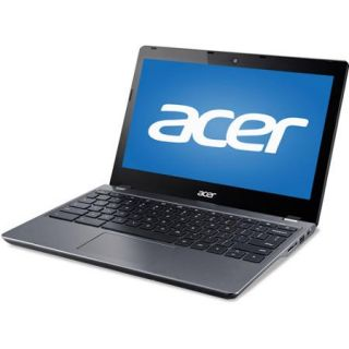"Acer Black 11.6"" C740 C3P1 Chromebook PC with Intel Celeron 3205U Dual Core Processor, 2GB Memory, 16GB SSD and Chrome OS"