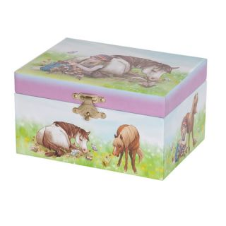 Mele & Co. Blossom Girls Musical Horse Jewelry Box