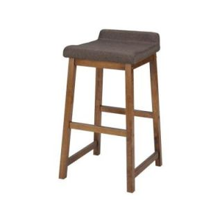 Worldwide Homefurnishings 26 in. Solid Wood and Fabric Counter Stool in Tobacco 203 798TB