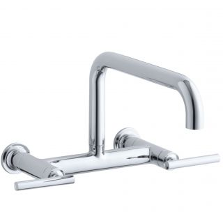 Kohler Purist Two Hole Wall Mount Bridge Kitchen Sink Faucet with 13 7
