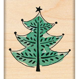 Penny Black Mounted Rubber Stamp 1.75X1.75 Festive Tree   15019607