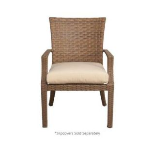 Hampton Bay Tobago Patio Dining Chair with Cushion Insert (2 Pack) (Slipcovers Sold Separately) 151 115 DC2 NF