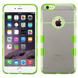 Insten Black/Green Clear TPU Rubber Candy Skin Phone Case Cover For