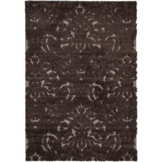 Safavieh Florida Shag Dark Brown/Smoke 8 ft. x 10 ft. Area Rug SG460 2879 8