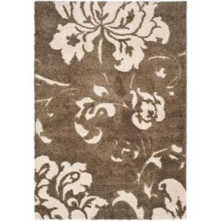 Safavieh Florida Shag Smoke/Beige 5 ft. 3 in. x 7 ft. 6 in. Area Rug SG458 7913 5