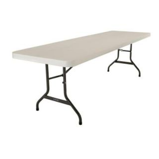 Lifetime 8 ft. Almond Commercial Folding Table 80457