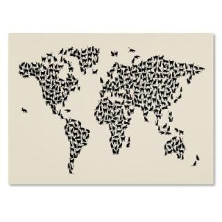 "14 in. x 19 in. ""Cats World Map 2"" Canvas Art MT0208 C1419GG"