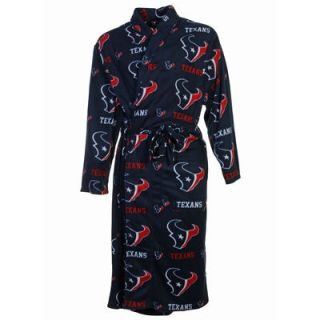 Houston Texans Highlight Fleece Robe   Navy Blue