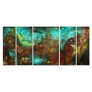 All My Walls Lava Flows by Megan Duncanson 5 Piece Graphic Art Plaque Set