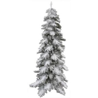 9' Slim Flocked Vail Pine Artificial Christmas Tree   Unlit