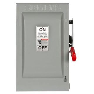 Siemens Heavy Duty 60 Amp 600 Volt 2 Pole Indoor Non Fusible Safety Switch HNF262