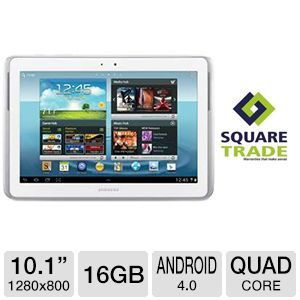 Samsung Galaxy Note 10.1 Quad Core 16GB Tablet and SquareTrade 2 Yr Warranty Plus Accident Protection Bundle