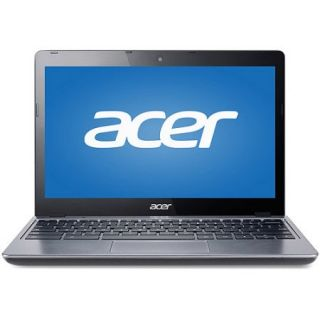 "Refurbished Acer Silver 11.6"" C720 2844 Chromebook PC with Intel Celeron 2955U Dual Core Processor, 4GB Memory, 16GB SSD and Chrome OS"