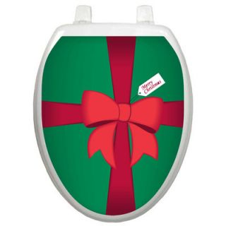 Toilet Tattoos Holiday Christmas Gift Box Toilet Seat Decal