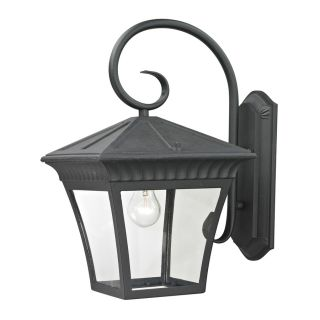 Westmore Lighting Colebrook 18.3 in H Matte Textured Black Outdoor Wall Light